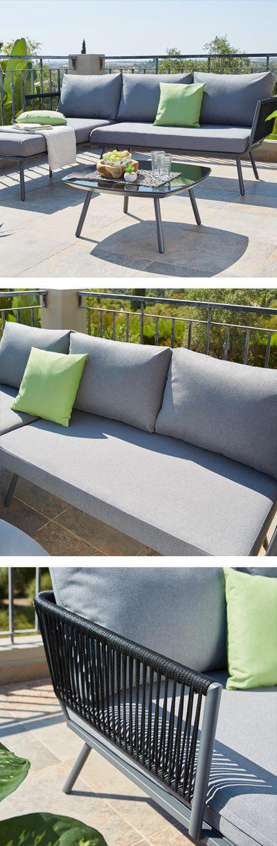 Moderne Loungemobel Mit Kissen Perfekt Fur Balkon Und Garten Lounge Mobel Lounge Garnitur Lounge