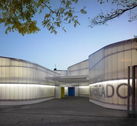 Polycarbonate cladding Dezeen » Blog Archive » Barceló Temporary Market by Nieto Sobejano Arquitectos