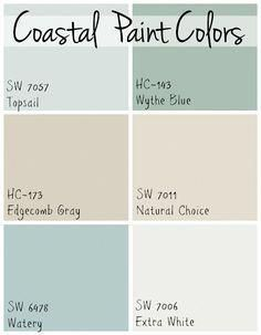 Astounding Coastal Paint Colors 6 Soothing Blue And Greige Paint Interior Design Ideas Tzicisoteloinfo