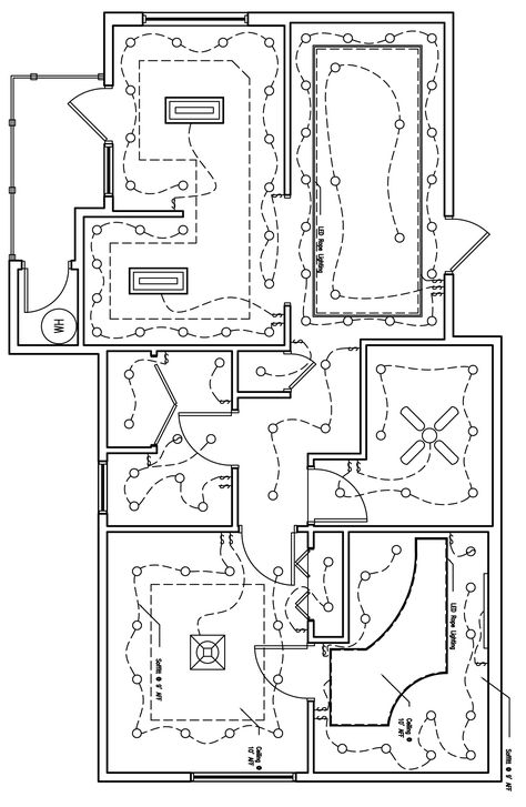 the reflected lighting/ceiling plan of the \
