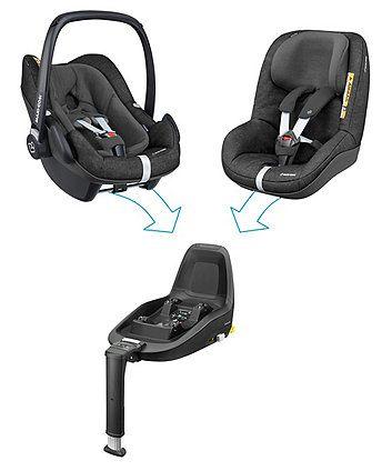 Maxi Cosi Pebble Plus Isize Baby Car Seat Nomad Black With Images Baby Car Seats Car Seats