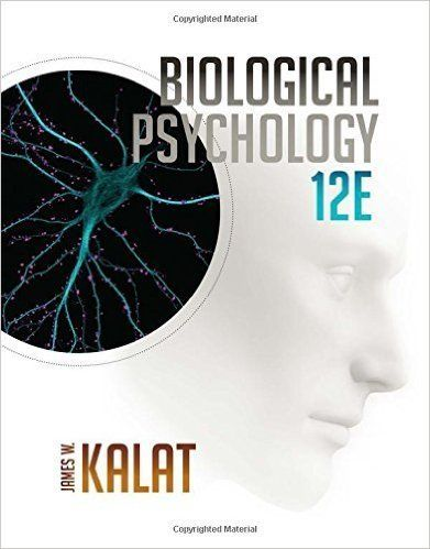 Test Bank For Biological Psychology 12th Edition By James W