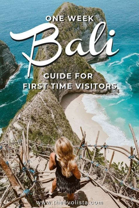 Bali Indonesia is one of the most amazing places you can visit in Southeast Asia. This Bali Itinerary has travel tips and destination information for First Time Visitors with things to do in Ubud, Uluwatu, Canggu, Seminyak and Nusa Penida. Easily make this one week trip into a 10 day Bali Itinerary or even 2 weeks. #balitravel #baliindonesia #baliitinerary