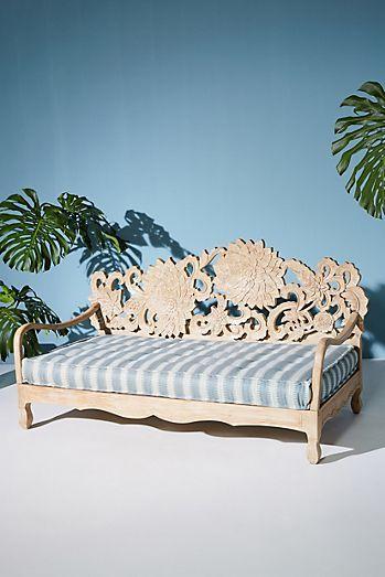 Suren Striped Indoor Outdoor Daybed Cushion Outdoor Mattress Backyard Garden Design Outdoor Daybed