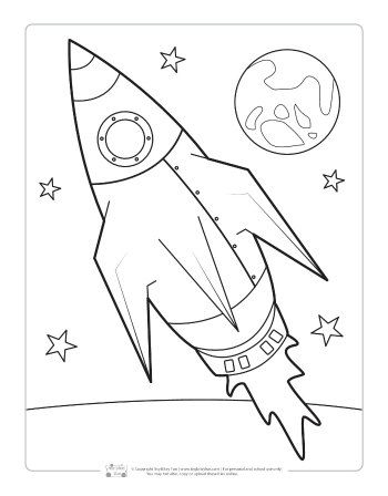 Space Coloring Pages For Kids Space Coloring Pages Coloring