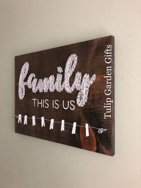 Family This Is Us String Art Photo Display Family Photo Wire   Etsy