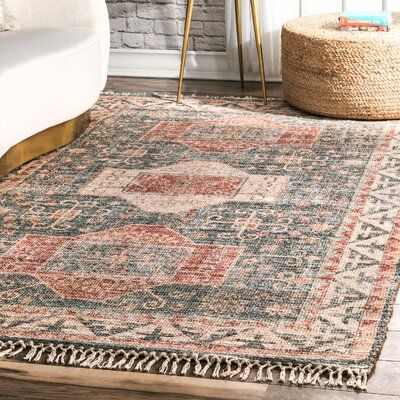 World Menagerie Lauro Brown Blue Area Rug Rug Size Runner 2 8 X 6 Area Rugs Flat Weave Cool Rugs