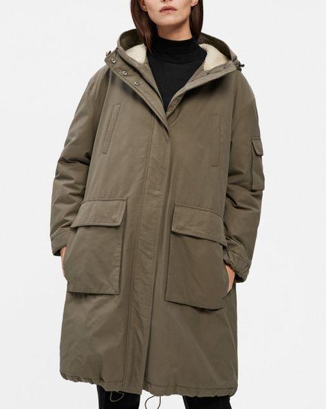 klassinen istuvuus myyntipiste myytävänä 100% aito Dellan Parka Olive - Coats & Jackets - Shop Woman - Filippa ...