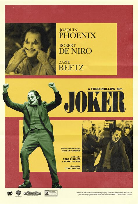 My retro movie poster Saga continues. I couldn't let this one slide. Joker (2019)