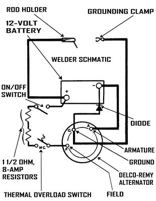 Wiring diagram together with alternator welder wiring diagram the frame is wood the welding and power cables are from appliances rh pinterest co uk asfbconference2016 Choice Image