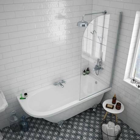 Appleby 1700 Roll Top Shower Bath With Screen Chrome Leg Set Victorian Plumbing Uk Top Bathroom Design Shower Bath Shower Tub