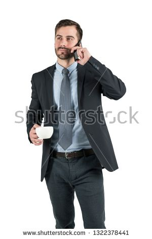 Stock Photo Isolated Portrait Of Young Friendly Businessman