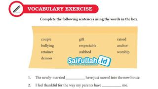 Kunci Jawaban Bahasa Inggris Chapter 12 Vocabulary Exercise Hal 162 Kelas 10 Sma Smk Ma Sma Bahasa Inggris Inggris
