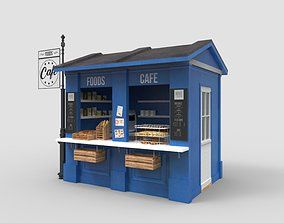 3d 10ft Container Kiosk Cgtrader In 2020 Container Cafe Kiosk Design Container Shop
