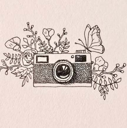 Drawing Doodles Easy Aesthetic 51 Ideas Vintage Drawing Camera Drawing Camera Doodle