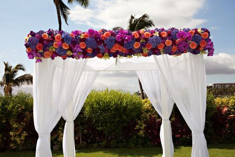 Wedding Canopy Flowers Just Stunning With Images Wedding