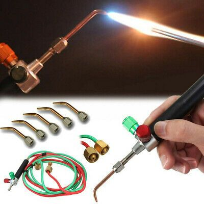 1 X Mini Gas Torch 5 X Interchangeable Tip Micro Precision Oxygen Welding Torch In 2020 Welding Torch Welding Brazing