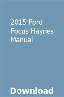 2015 Ford Focus Haynes Manual Pdf Download Fiat Ford Fiesta Car Owners Manuals