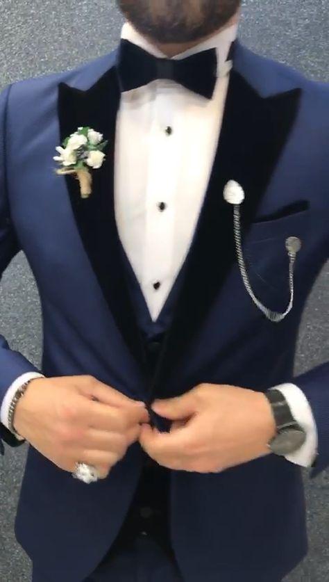 Bergamo Parliament Blue Tuxedo – brabion