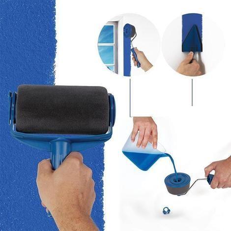 Adjustable Conforming Baseboard Cleaner Paint Runner Sponge Rollers Broom Handle