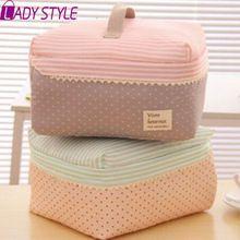 yeni varış büyük kapasiteli kozmetik çantası Kore makyaj çantası nokta kadın çanta taşınabilir depolama kanvas çanta büyük seyahat çantası hl6688(China (Mainland))