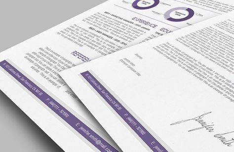 Resume Template - Premium line of Resume \ Cover Letter Templates - apple pages resume template