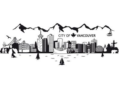 Vancouver Skyline  Wood pieces