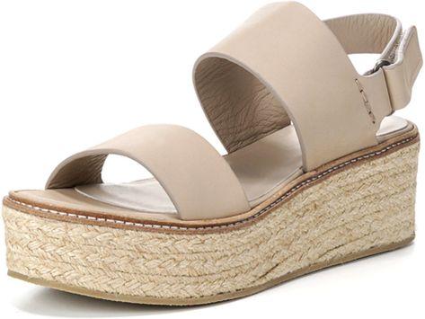 606ce6fa96 Janet Platform Espadrille Sandal Vince soft leather espadrille sandal. 2.5  braided-jute wedge heel with platform. Strap bands open toe.
