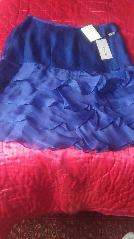 001332aae02927 Jolie jupe bleu électrique en soie💙 | vinted | Jupe bleu, Bleu ...
