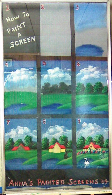 instructions on how to paint on window screen