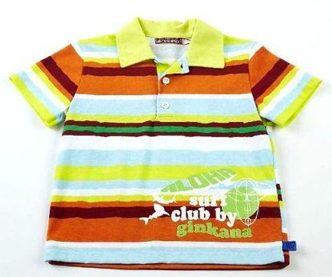 Polo Nino De Algodon M C Con Estampado De Rayas En Colores Polos