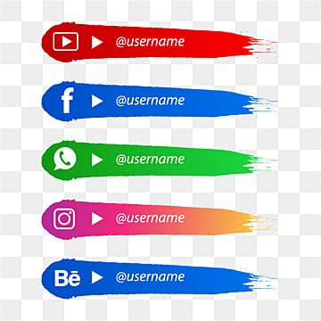 Social Media Lower Third With Brush Shape Social Media Icon Lower Third Png And Vector With Transparent Background For Free Download Social Media Icons Social Icons Snapchat Logo