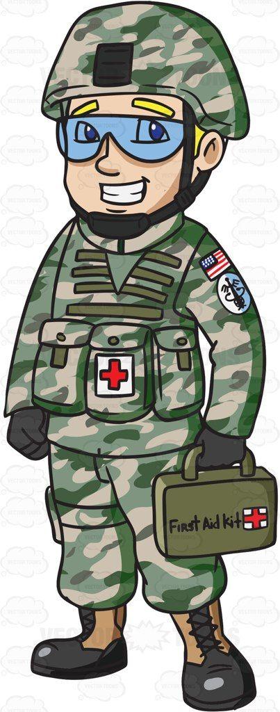a female army medic army medic rh pinterest com Patient Clip Art Funny Surgery Clip Art