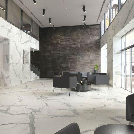 Carrelage Sol Et Mur Aspect Marbre Blanc Marbre Statuary Mat 60x120 Cm Carrelage Imitation Marbre Carrelage Sol Carrelage Marbre