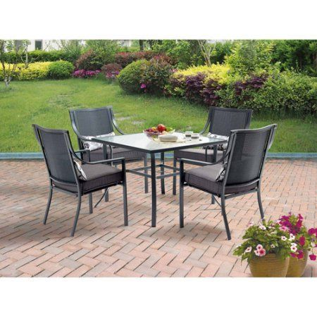 Delux Square Five Piece Patio Dining
