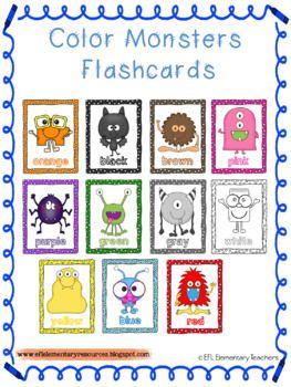 Color Theme for Elementary ESL-EFL-ELL | ESL Preschool Teachers ...