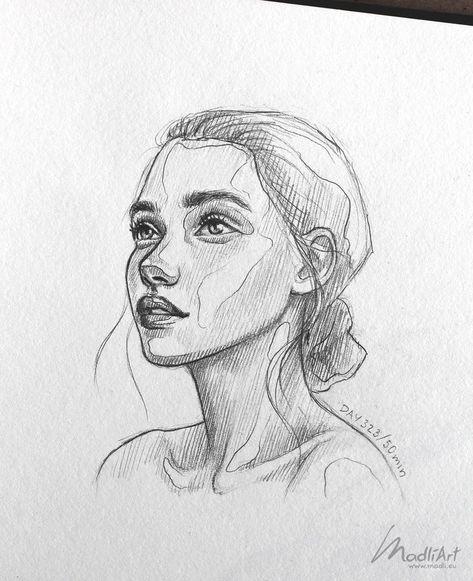 Meine Skizzenbuchkunst Ich zeichne glückliche verträumte Mädchen Ich süße Skizze Ich zeichne ... - #