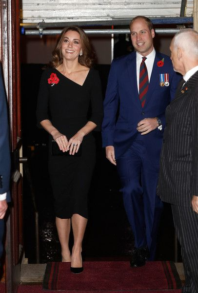 Prince William, Duke of Cambridge and Catherine, Duchess of Cambridge attend the Royal British Legion Festival of Remembrance at the Royal Albert Hall.