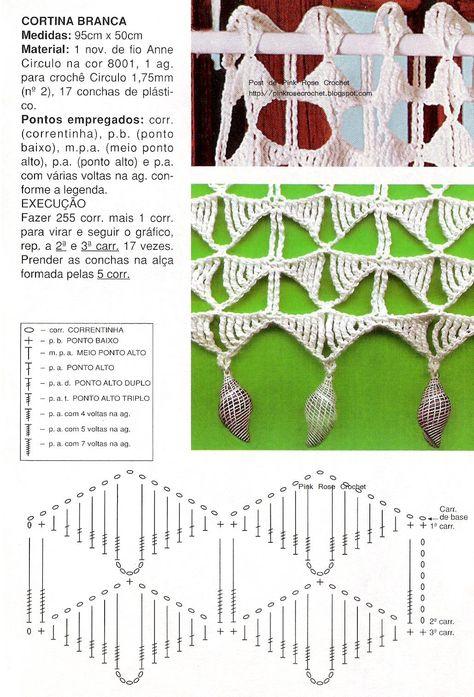 Cortina+de+Croche+-+Gr.+Crochet+Curtain+-+Pink+Rose.JPG] | cortinas ...