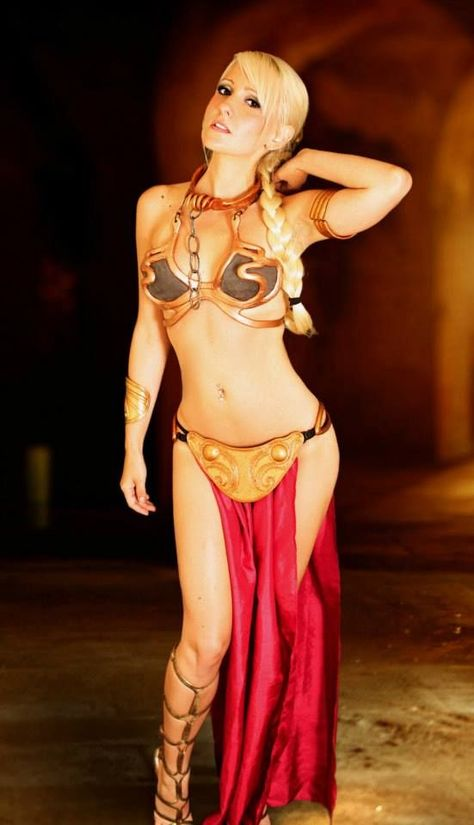 You star wars princess leia slave cosplay