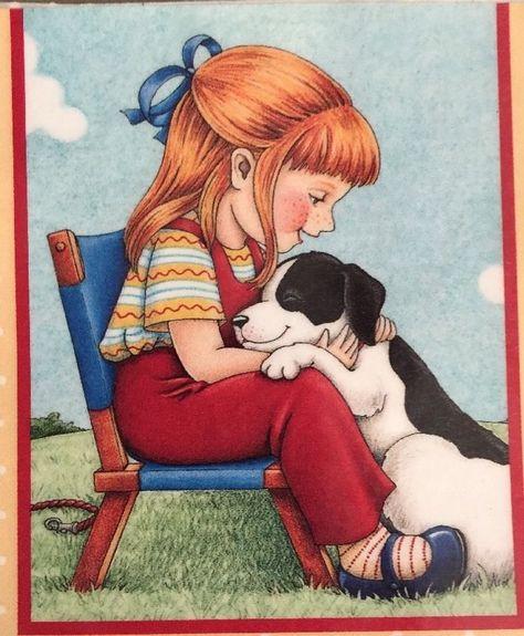 Two Best Friends-Large Mary Engelbreit Artwork Magnet