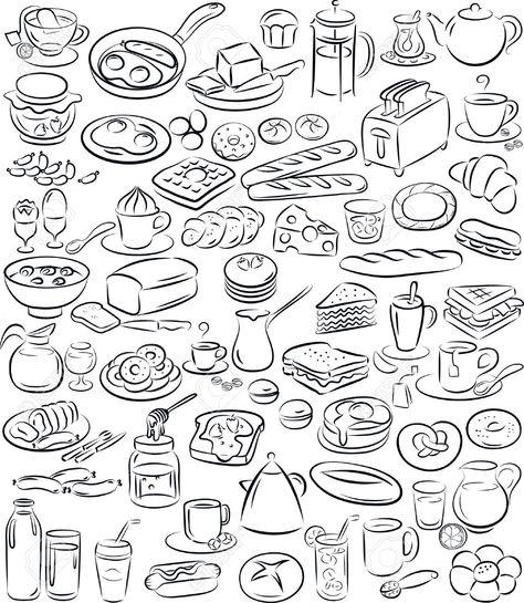 Illustratie Tosti Google Zoeken Illustration Vector Illustration Doodle Drawings