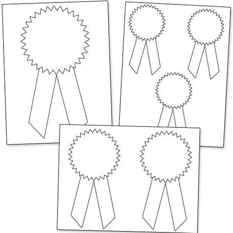 Printable Award Ribbons Clroom Kids Awards Template Blue Ribbon