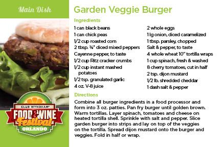 Garden Veggie Burger | AOM Recipe Cards | Pinterest | Veggie Burgers,  Burgers And Recipe Cards