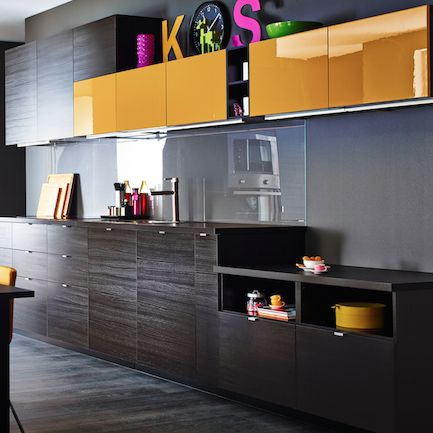 IKEA Metod Tingsryd Black Wood Effect. Kitchen-compare.com - Home ...