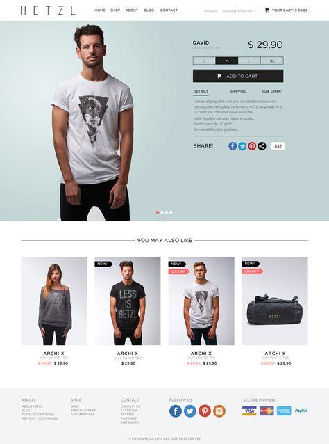 305da9135275c Diseño web de la tienda online de HETZL Clothing.