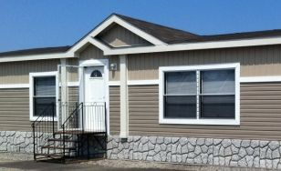 mobile homes benefit beautifully from our faux stone siding panels
