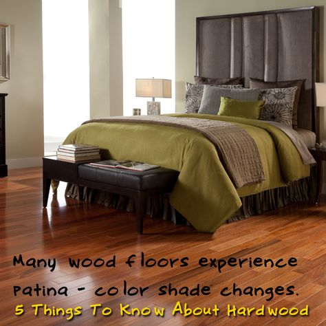 """Many wood species are photosensitive and will gain a richer, darker """"patina"""" when exposed to sunlight. This process can be rapid the first 3 months, less in 6 months and finishing off in about 1 year. [5 Things To Know About Hardwood]"""