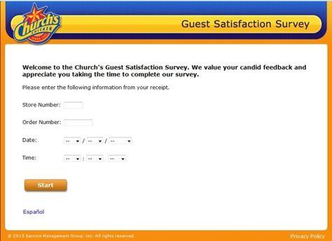 Churchu0027s Chicken Customer Satisfaction Survey, www - satisfaction survey