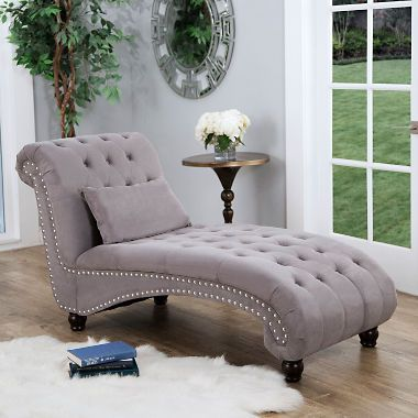 Bainbridge Fabric Chaise Lounge Assorted Colors Tufted Chaise